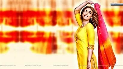 Punjabi Kapoor Kareena Smiling Suit Viewing Mobile