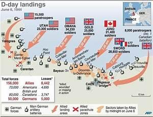 D Day Landings Map