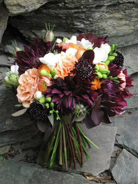 dahlias and roses wedding flowers vermont wedding at the