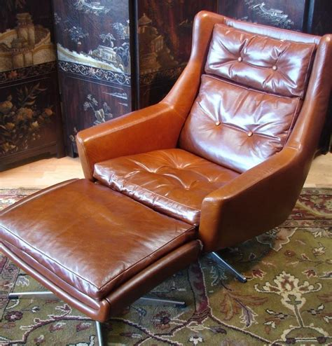 furniture alluring leather chair  ottoman  cozy