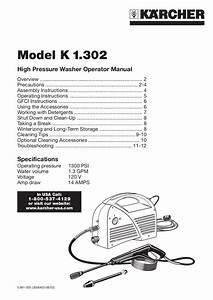 Download Free Pdf For Karcher K 1 302 Pressure Washers
