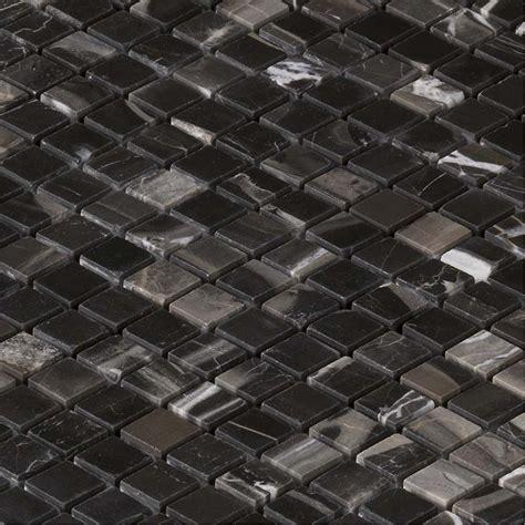 mosaique marbre evans black noire indoor  capri