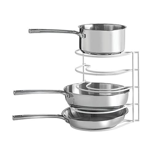 rack for pots and pans grayline pot and pan organizer rack bed bath beyond