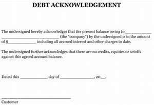 sample debt acknowledgement small business free forms With template acknowledgement of debt