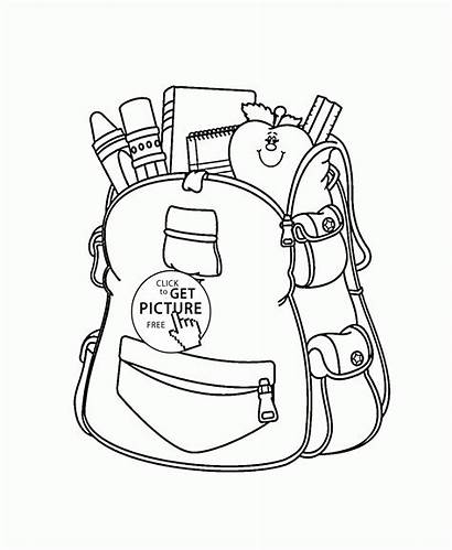Coloring Bag Supplies Pages Drawing Bags Printables
