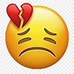 Emoji Broken Heart Love Smiley, PNG, 1024x1024px, Emoji ...