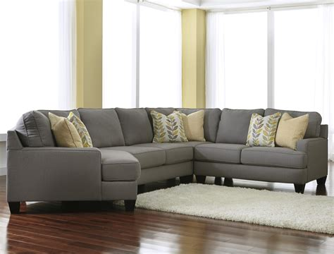 cuddler sectional sofa signature design by chamberly alloy modern 4