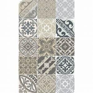 Tapis Vinyl Carreaux De Ciment : tapis vinyl eclectic 70 x 120 cm beija flor ~ Melissatoandfro.com Idées de Décoration