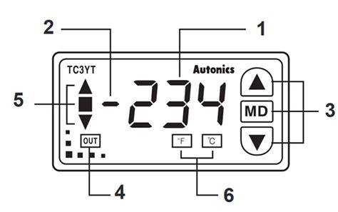 autonics tc3yt b4r16 temperature controller w72 h36 mm off proportional 3 digit