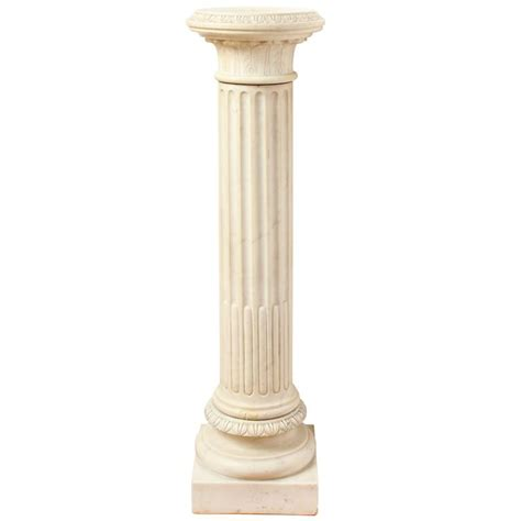 Pedestal Building by A Marble Corinthian Capital Architectural Pedestal At 1stdibs