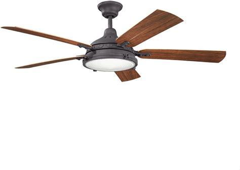kichler lighting 310117dbk ceiling fan traditional