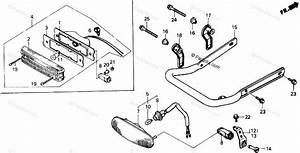 Honda Atv 1988 Oem Parts Diagram For Taillight