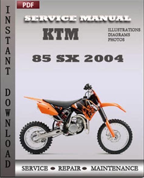 Ktm Sx 85 Wiring Diagram by Ktm 85 Sx 2004 Service Manual