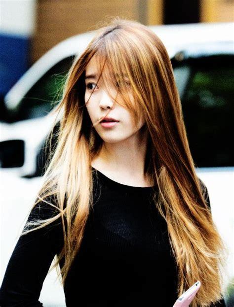 iu hair  long  bangs korean hairstyle  drama