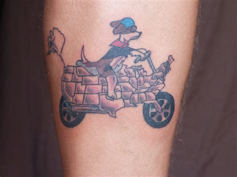 A Tattoo After Riding My Motorcycle Through 49