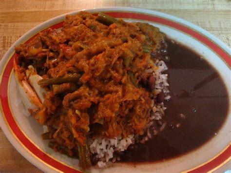 legume cuisiné rice and beans with legume and crabs haitian recipes crabs beans and rice