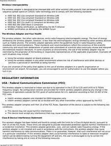 Asustek Computer 8260d2 Wireless Network Adapter User