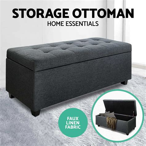 ottoman for foot of bed blanket box storage ottoman pu leather fabric chest toy