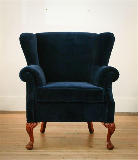 blue velvet chair set of two large oversized italian blue