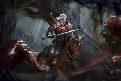 Geralt Deviantart Witcher Paintings Fantasy Drawings