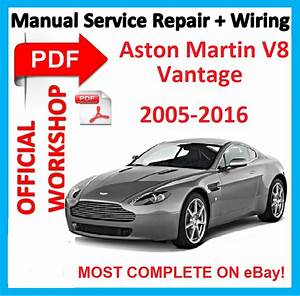 Official Workshop Manual Service Repair For Aston Martin Vantage V8 2005