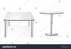 Modern Glass Table Isolated On White Stock Illustration ...