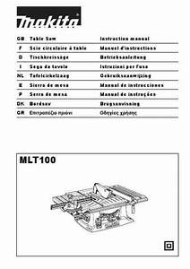 Makita Mlt 100 Tools Download Manual For Free Now