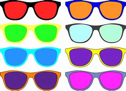 Sunglasses Colorful Clip Clipart Vector Wayfarer Aviator