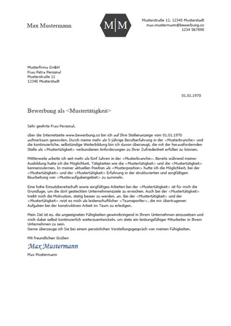 Vorlage Bewerbungsschreiben by Bewerbung 2018 Bewerbung Co