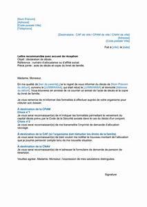 Lettre Deces : lettre type d claration de d c s t l chargement gratuit documents pdf word et excel ~ Gottalentnigeria.com Avis de Voitures