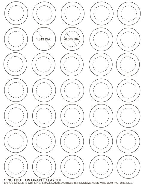 1 Inch Template A Size Template For 1 Inch Buttons That 7 Best Images Of Printable Button Template Mickey Mouse
