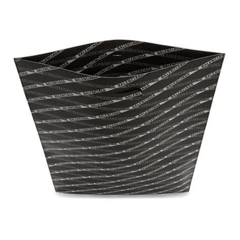 balenciaga black monogram plastic bag shopper tote balenciaga