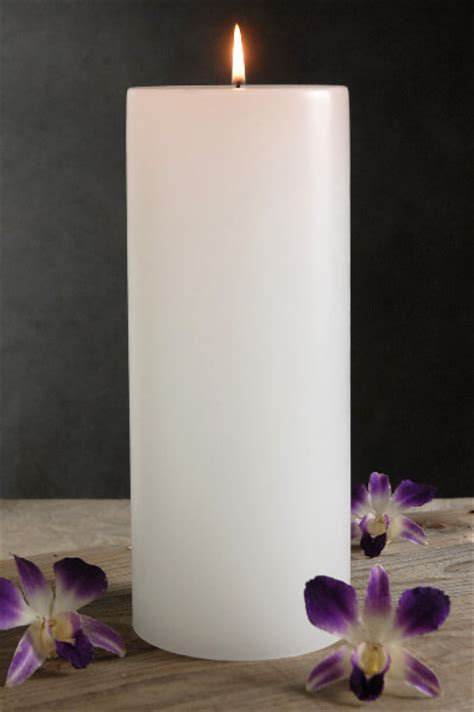 wedding place card table 4x12 white candle unscented