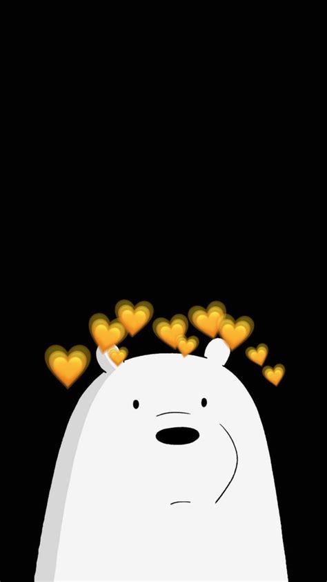 ice bear  aesthetic yellow heart crown   beruang