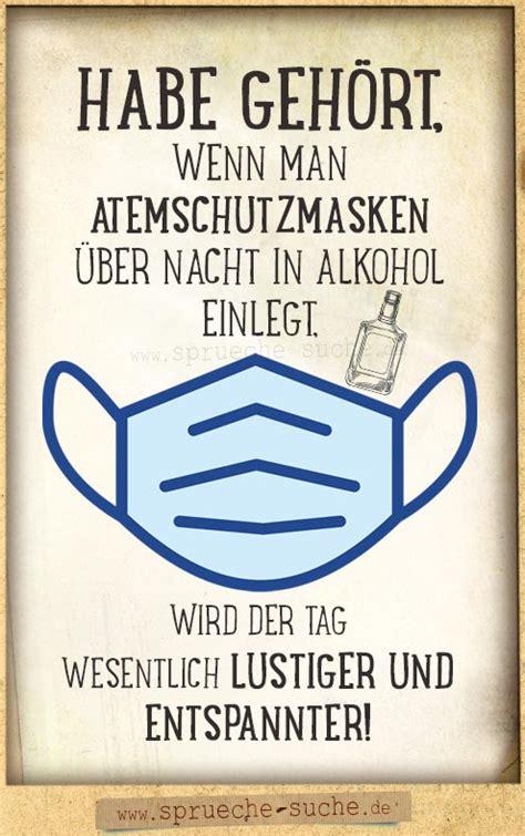 atemschutzmasken  alkohol lustiger corona spruch