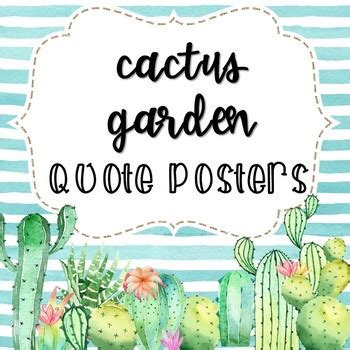 cactus quote posters  melinda goggans teachers pay