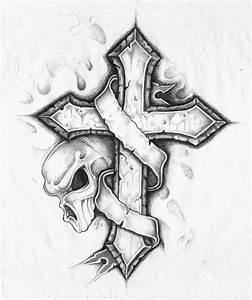 Skull Cross Tattoo Drawing