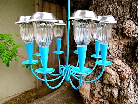 how to make outdoor solar lights how to make a solar light chandelier homejelly