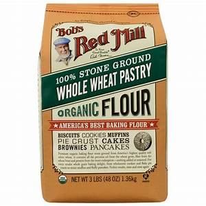 Bob's Red Mill Whole Wheat Pastry Flour Organic 48 oz Pkg ...