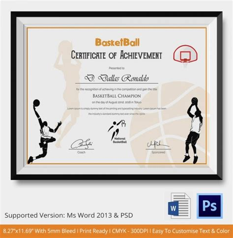 Baseball Achievement Certificate Baseball Success Certificate Of Achievement