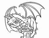 Wyvern Coloring Coloringcrew Template Pages Colorear sketch template