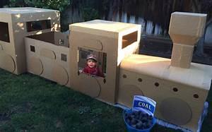 Large Cardboard Train Tutorial – Defiantly Domestic
