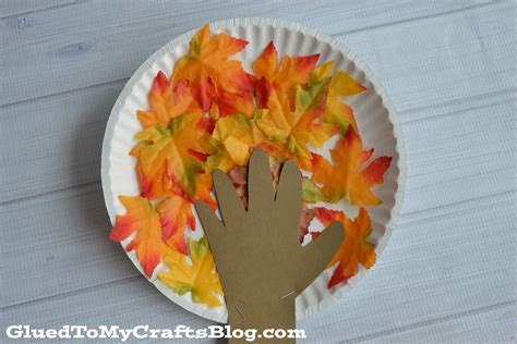 paper plate fall tree kid craft