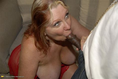 White Busty Mom Sucking Big Black Cock And Getting A