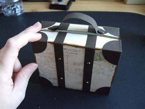 diy creative luggage style gift box
