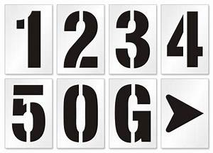 parking lot number letter stencils With stencil sets numbers letters