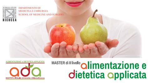 università di alimentazione master alimentazione e dietetica applicata la quarta