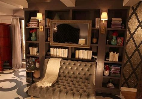 floor mirror nyc style network built designer kim gieske of nyc love the wall paper couch stencil floor