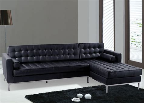black leather sectional with ottoman sofas modern black leather sectional sofa black color