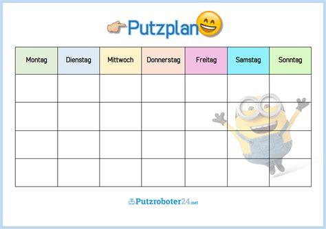 Wochenplan Haushalt Vorlage by Putzplan Vorlage F 252 R Familie Mit Minions To Do Liste